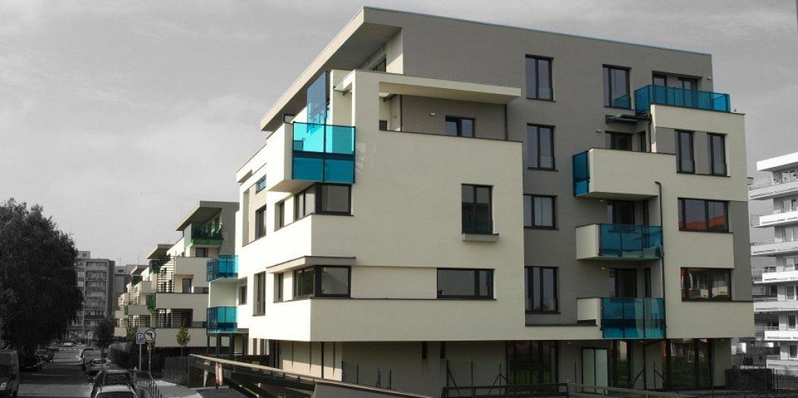 Barevné Letňany - bytový komplex. Zadavatel Trigema Building a.s.